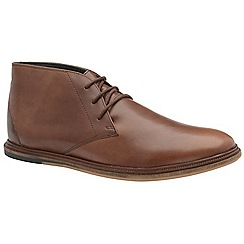 Frank Wright - Brunette 'Walker' men's lace up boots