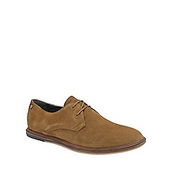 Frank Wright - Tobacco 'Burley' mens flat lace up shoes