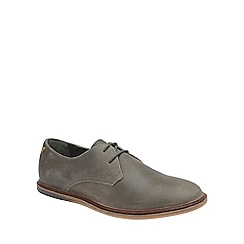 Frank Wright - Grey 'Burley' mens flat lace up shoes