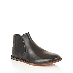 Frank Wright - Black 'Vogts' mens slip on chelsea boots
