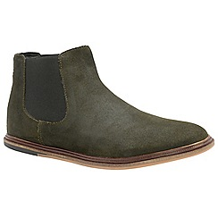 Frank Wright - Khaki 'Vogts' men's flat slip on chelsea boots