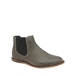 Frank Wright - Grey 'Vogts' mens flat slip on chelsea boots