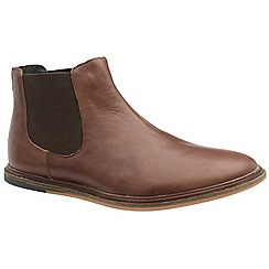Frank Wright - Brunette 'Vogts' men's flat slip on chelsea boots