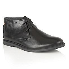 Frank Wright - Black Leather 'Bath' lace up mens boots