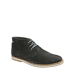 Frank Wright - Black 'Bath' mens flat lace up boots