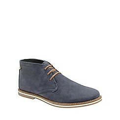 Frank Wright - Navy 'Bath' mens flat lace up boots
