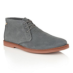 Frank Wright - Anthracite Oxide 'Bath' lace up mens boots