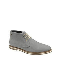 Frank Wright - Grey 'Bath' mens flat lace up boots