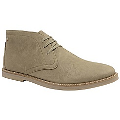Frank Wright - Almond 'Bath' men's flat lace up boots