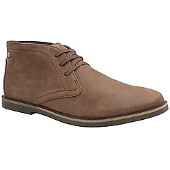 Frank Wright - Brunette 'Bath' men's flat lace up boots