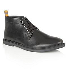 Frank Wright - Black Leather 'Corby' lace up mens boots