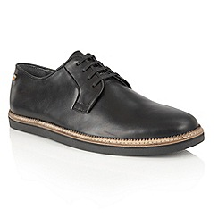 Frank Wright - Black Leather 'Turpin' mens lace up shoes