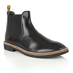 Frank Wright - Black Leather 'Hazelburn' mens chelsea boots