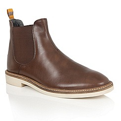 Frank Wright - Brown Leather 'Hazelburn' mens chelsea boots