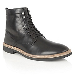 Frank Wright - Black Leather 'Munros' mens lace up boots