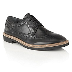 Frank Wright - Black Leather 'Haig' mens lace up brogues