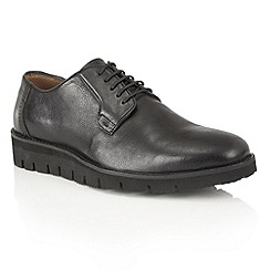 Frank Wright - Black Leather 'Manfred' mens lace up shoes