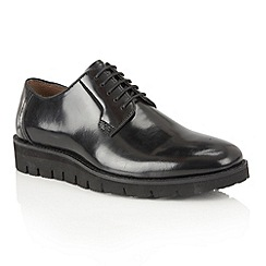 Frank Wright - Black Hi Shine 'Manfred' mens lace up shoes