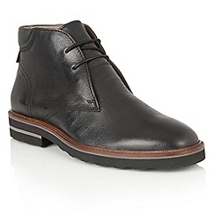 Frank Wright - Black Leather 'Elwood' lace up mens boots