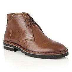 Frank Wright - Tan Leather 'Elwood' mens lace up boots