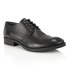 Frank Wright - Black Leather 'Elm' mens lace up shoes