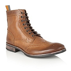 Frank Wright - Tan Leather 'Cypress' mens lace up boots