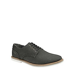 Frank Wright - Black 'Leek' mens slip on derby shoes