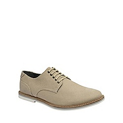 Frank Wright - Beige 'Leek' mens slip on derby shoes