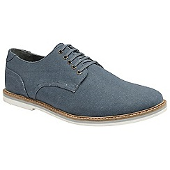 Frank Wright - Blue 'Leek' mens slip on derby shoes