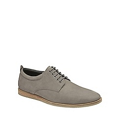 Frank Wright - Grey 'Kane' mens lace up leather shoes