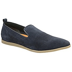 Frank Wright - Navy 'Alfredo' mens casual slip on loafers