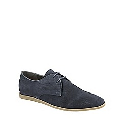 Frank Wright - Navy 'Karl' mens lace up shoes