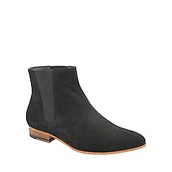 Frank Wright - Black 'Sundance' mens slip on chelsea boots