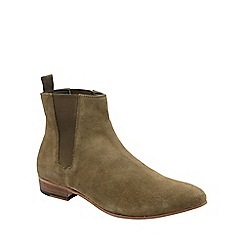 Frank Wright - Sand 'Sundance' mens slip on chelsea boots