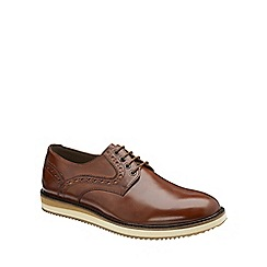 Frank Wright - Tan 'Marvin' mens lace up derby shoes