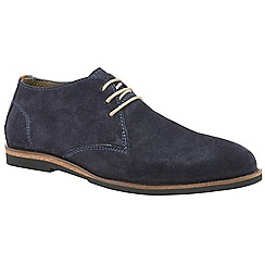 Frank Wright - Navy 'Van' men's lace up derby shoes