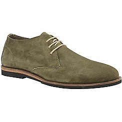 Frank Wright - Khaki 'Van' men's lace up derby shoes