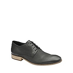 Frank Wright - Black 'Muddy' mens lace up classic derby shoes