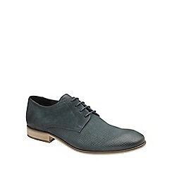 Frank Wright - Navy 'Muddy' mens lace up classic derby shoes