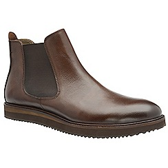 Frank Wright - Brown 'Edwin' men's slip on chelsea boots