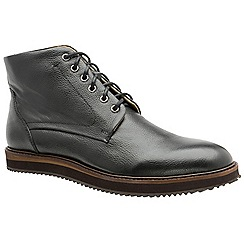 Frank Wright - Black 'Duane' men's lace up derby boots