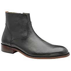 Frank Wright - Black 'Hardin' men's slip on desert boots