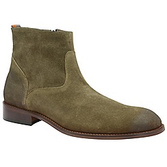 Frank Wright - Khaki 'Hardin' men's slip on desert boots