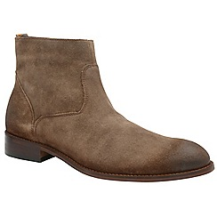Frank Wright - Dark brown 'Hardin' men's slip on desert boots