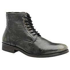 Frank Wright - Black 'Clyde' men's lace up derby boots