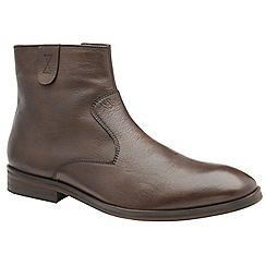 Frank Wright - Brown 'Edison' men's slip on ankle boots