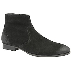 Frank Wright - Black 'Faraday' men's slip on desert boots