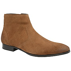 Frank Wright - Tobacco 'Faraday' men's slip on desert boots