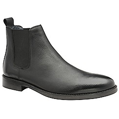 Frank Wright - Black 'Wyatt' men's slip on chelsea boots