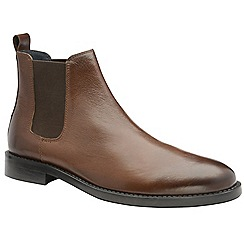Frank Wright - Tan 'Wyatt' men's slip on chelsea boots